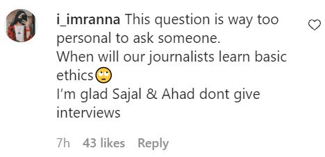 Question About Sajal Aly's Pregnancy Heavily Criticized