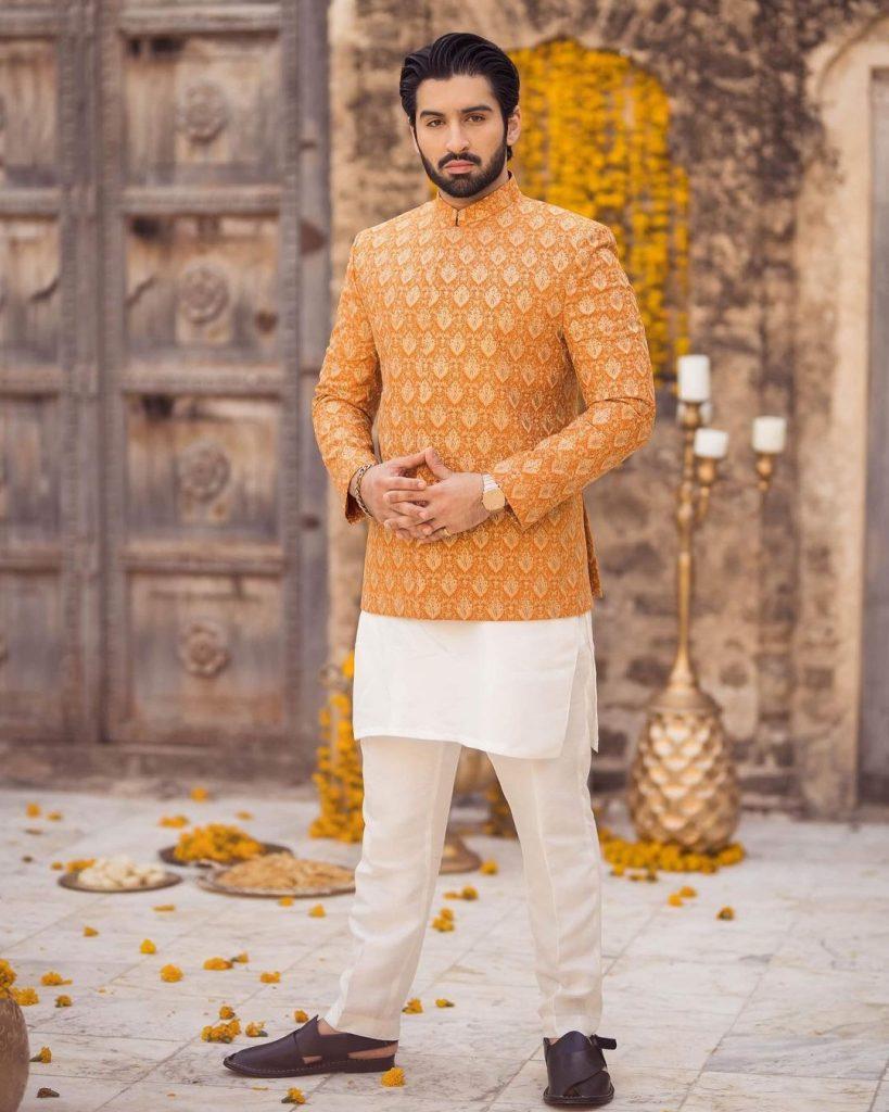 Alizeh Shah Stuns In Beautiful Orange Bridal Ensemble