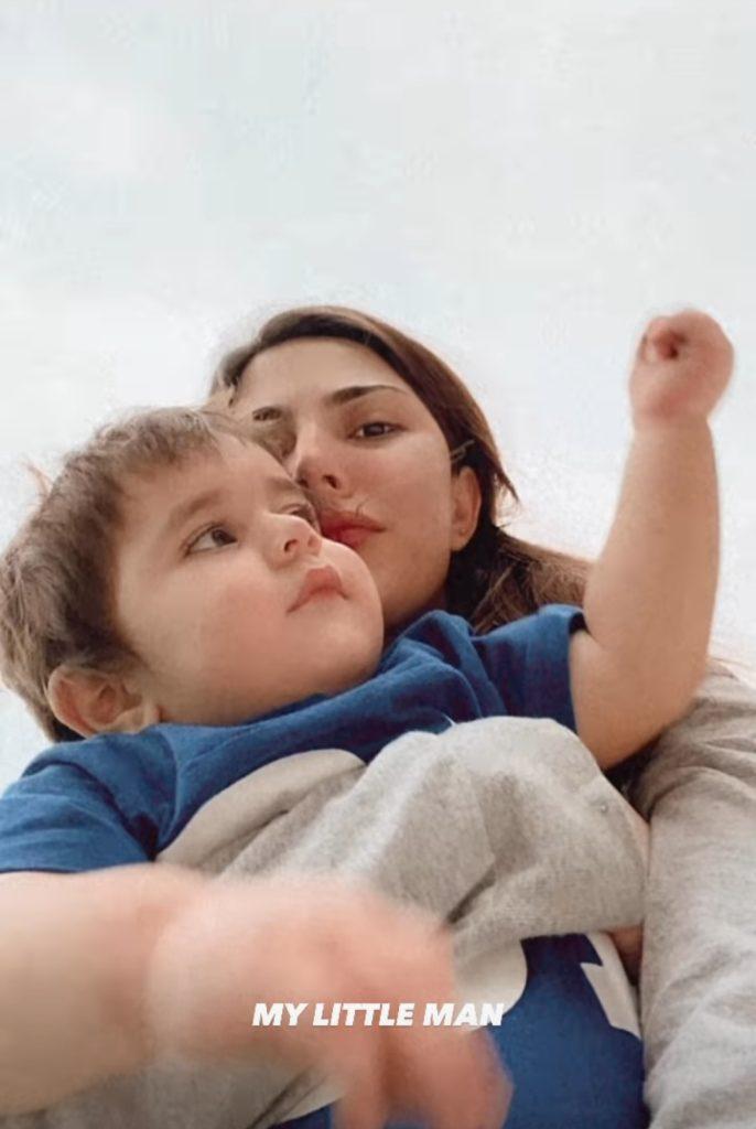 Naimal Khawar Spending Time With Little Mustafa Abbasi