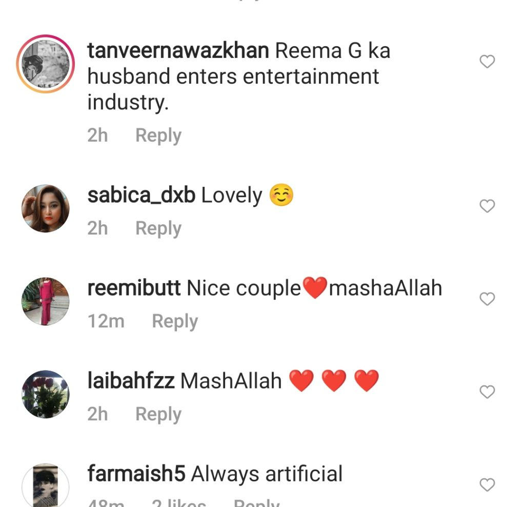 Reema Shares Adorable Video With Her Husband