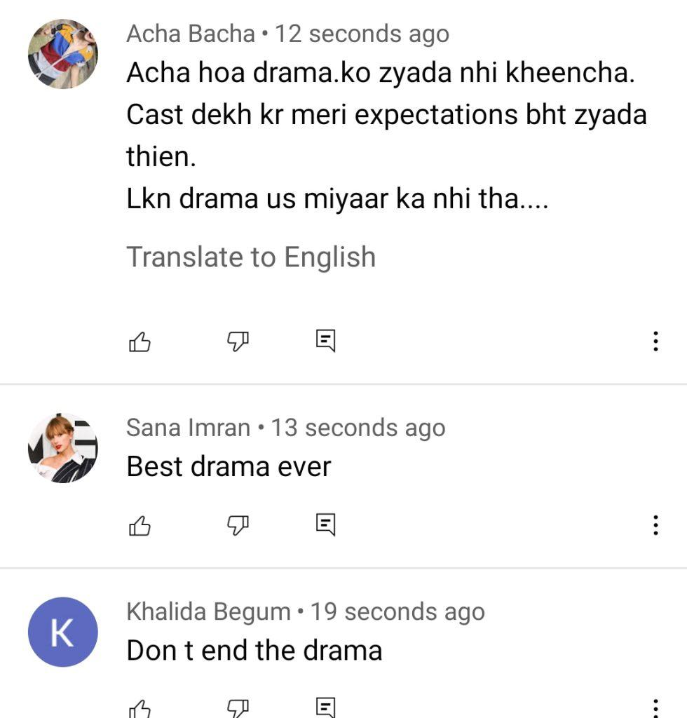 Laapata Drama Last Episode - Public Reaction