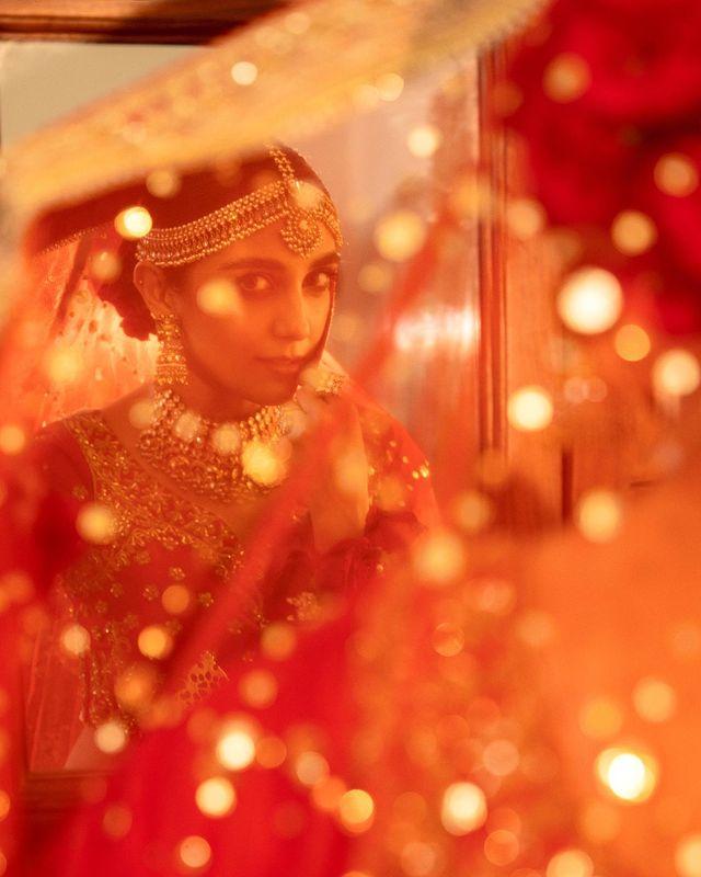 Maya Ali Looks Regal In A Gorgeous Red Bridal Ensemble