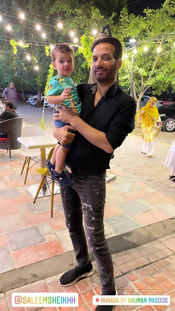Celebrities Get Together At Nauman Masood's Restaurant